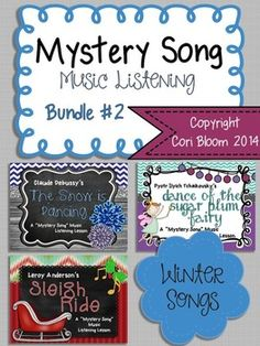 Mystery Song Music Listening: Bundle #2 30% off 7/15 - 7/22!