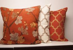 Copper Pillow Cover, Orange Pillow, Burnt Orange Pillow, Fall Pillow, Moroccan…