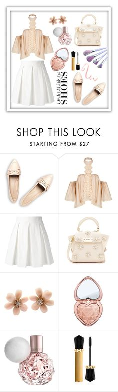 """Summer Peach"" by windybitty ❤ liked on Polyvore featuring WithChic, Boutique Moschino, ZAC Zac Posen, Van Cleef & Arpels, Too Faced Cosmetics and Christian Louboutin"