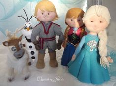 Personagens Frozen em Feltro