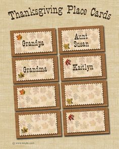 Free printable thanksgiving place cards with editable type from free printable thanksgiving place cards pronofoot35fo Choice Image