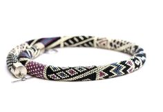 Bead Crochet Necklace Noir luxury jewelry black by KittenUmka