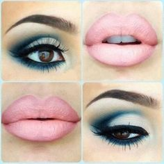 Gorgeous Blue/Green Tinted Blending Love The Lips