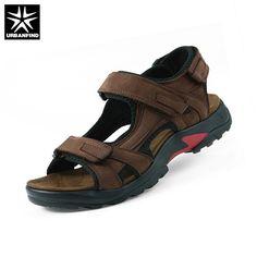67f2105b45613 Top quality sandal 2017 men sandals summer genuine leather sandals men  outdoor shoes men leather sandals plus size 46 47 48