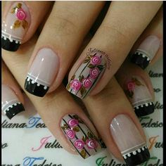 In our lives, there must be a lot of girls who like nails! Imagine that your delicate fingers have very delicate nails on your fingers,… Gorgeous Nails, Love Nails, Pretty Nails, French Nails, Colorful Nail Designs, Nail Art Designs, Nagel Gel, Cool Nail Art, Manicure And Pedicure