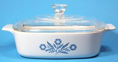 Corning Ware Casserole A-1-B Cornflower Blue 1 Quart With Lid Vintage Bakeware #CorningWare