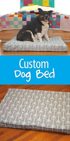 For an older dog with hip or joint issues, a memory foam bed can be a huge relief. Sew a custom cover to match your home decor! Xl Dog Beds, Custom Dog Beds, Diy Dog Bed, Homemade Dog Bed, Crate Bed, Diy Dog Crate, Dog Crate Cover, Memory Foam, Do It Yourself Design