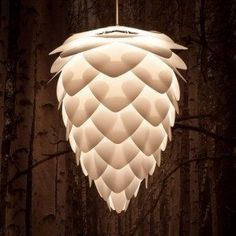 Surely a beautiful talking point for any living room or master bedroom, this interesting Pinecone Inspired Ceiling Shade is blind-free and illuminates with