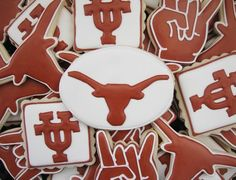 Texas Longhorns cookies