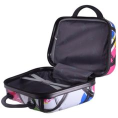 The Modern Art Vanity Case – 14 Inch is a PVC case with 210D soft lining, perfect for storing your personal care items at home or while on the go. Features a main compartment, inner compartment both with zip closures, a rear elastic bag connector and a handle for easy carrying. Available in a funky multicoloured print.  #vanitybag #modern #14inch #personalcare #promotionalgifts Vanity Bag, Travel Bags, Modern Art, Handle, Personal Care, Zip, Easy, Stuff To Buy, Travel Handbags