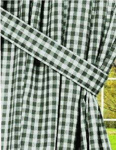 Hunter Green Gingham Check Window Curtains With Images Gingham Curtains Long Curtains Curtains