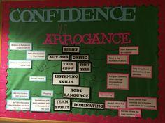 Confidence vs arrogance RA bulletin board