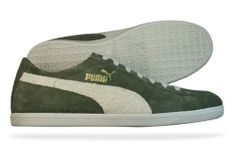 Puma Glyde Low Vintage Mens Leather Suede sneakers / Shoes - Green