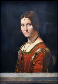 Portrait Of An Unknown Woman by Leonardo Da Vinci Art Print by AikoHara - X-Small Renaissance Kunst, Renaissance Portraits, Renaissance Paintings, Italian Renaissance, Johannes Vermeer, Caravaggio, Lady With An Ermine, Museum, Learn Art