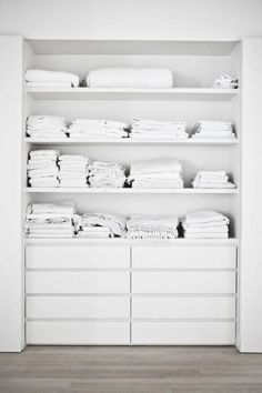 For all of the closets in the house to use our Malms  40 IKEA Malm Dresser Hacks | ComfyDwelling.com