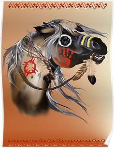 Painted pony, war horse