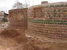 plastic bottle house - La Casa de Botellas or House of Bottles (for those who don't speak Spanish) is a home made of thousands of PET plastic bottles located in Puer.