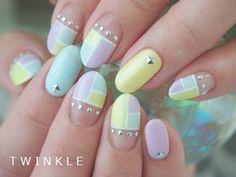 pastel color blocking