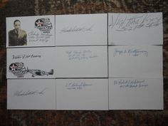 9  TUSKEGEE AIRMEN -AUTOGRAPHS/SIGNED INDEX CARDS-