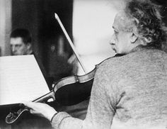Einstein playing the violin at a chamber music rehearsal in Princeton, NJ. Credit: being.publicradio.org