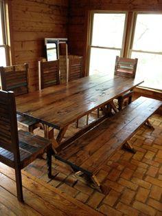Esstische im Landhausstil mit Stühlen fürs Esszimmer - Esstische im Landhausstil hell holz stühle sitzbank ländlich