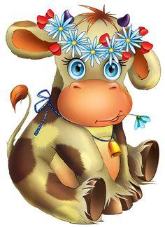 Dibujos. Clipart. Digi stamps - Pretty Cow - Vaca
