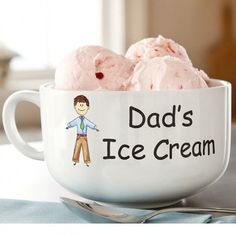 personalized ice cream bowl choose the character that looks most like dad personalize with best gifts for men