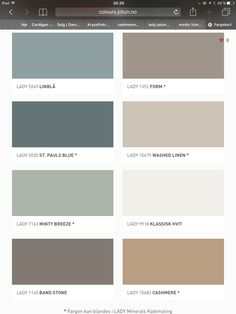 - Lilly is Love Wall Colors, House Colors, Colours, Colour Pallete, Colour Schemes, Living Room Colors, Bedroom Colors, St Pauls Blue, Jotun Lady
