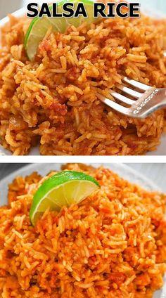 Mexican Food Recipes, Vegetarian Recipes, Cooking Recipes, Rice Recipes, Cheesy Recipes, Easy Healthy Recipes, Side Dish Recipes, Dinner Recipes, Amazing Food Videos