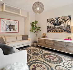 ductless disguises - Brooklyn Townhouse - Contemporary - Living Room - New York - Spruce Interior Design Split Design, Canapé Design, House Design, Interior Design, Design Styles, Design Ideas, Wall Design, Design Trends, Living Room New York