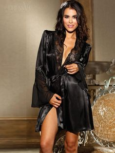 Black Floral Embroidery Lace Babydoll