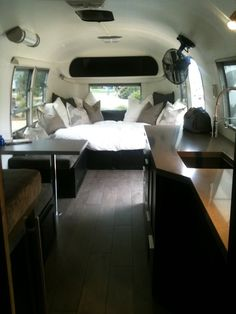 This interior is perfect. especially if you are a black lab.  Airstream Design, Pictures, Remodel, Decor and Ideas