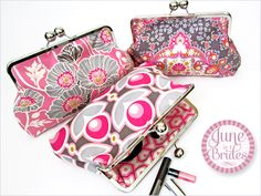 June is 4 Brides: Bridesmaid's Clutch | Sew4Home | FREE project with detailed instructions for making a frame-style purse