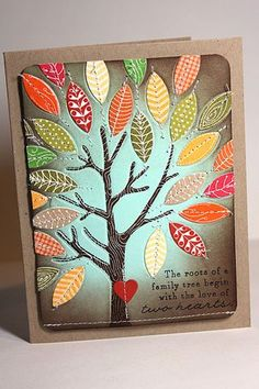 Family Tree Card by Heather Nichols for Papertrey Ink (August 2013)