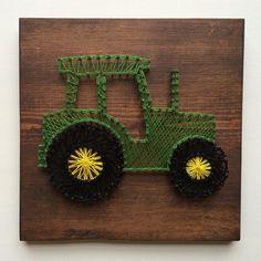 Tractor String Art