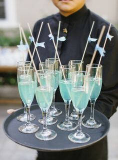 Charlotte Hale's Baby Shower from Marisa Holmes - Style Me Pretty Living Comida Baby Shower, Idee Baby Shower, Baby Shower Drinks, Baby Shower Parties, Baby Shower Themes, Baby Boy Shower, Baby Shower Decorations, Baby Shower Gifts, Shower Ideas