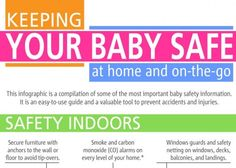 Great Infographic on Keeping Your Baby Safe at home and on-the-go!! Make sure to click on the link to see the full Infographic! {REPIN} and {FOLLOW} us!!