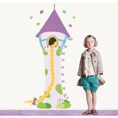 Wall decals - TheWonderwalls® | Decorative vinyl decal rapunzel height meter