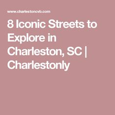 8 Iconic Streets to Explore in Charleston, SC Charleston Sc Things To Do, Charleston Style, South Carolina Coast, Charleston South Carolina, Myrtle Beach Vacation, Need A Vacation, Beach Trip, Vacation Ideas, Charleston Sc Attractions