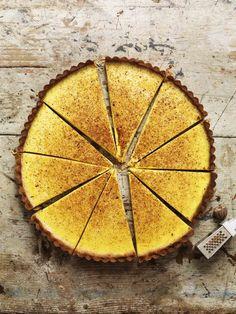 maple custard tart slice - florence knight and photo jason lowe Tart Recipes, Sweet Recipes, Baking Recipes, Sweet Pie, Sweet Tarts, Just Desserts, Delicious Desserts, Custard Tart, Eclairs