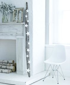 white wall, brick, and old frames.