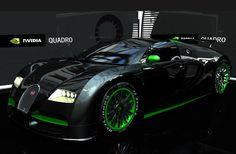Bugatti Veyron EB Nvidia Edition. Just a little Sunday drive.
