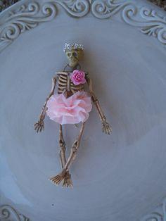 Ballerina Skeleton halloween Ornament by JeanKnee on Etsy, $6.00...I can make this!