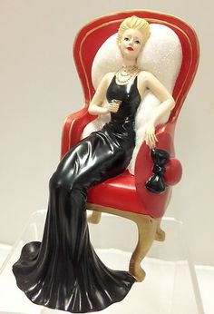 """Coca-Cola - """"Relaxing Moments with Coca Cola"""" - A Sweet Escape Lady Figurine on a Chair"""