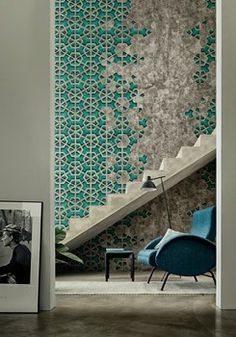 Walls reminiscent of the 50s. Wall&Decò at Maison et Object with its indoor wallpaper collection