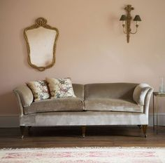 Mirror and Sofa from Beaumont & Fletcher