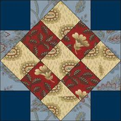 """Union Block"" - A civil war era block pattern (which probably has another traditional name unrelated to the war)."