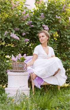 Relaxing among the Lilac's ~
