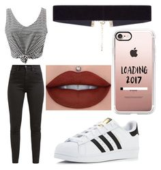 """""""Untitled #1"""" by mihaela03 ❤ liked on Polyvore featuring WithChic, adidas, Levi's, 8 Other Reasons and Casetify"""