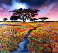 Ina Millman South African Artists, Autumn Trees, Golf Courses, Colors, Painting, Fall Trees, Painting Art, Colour, Paintings
